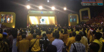 Jokowi, Ahok & Mega Hadiri Penutupan Rapimnas Partai Golkar