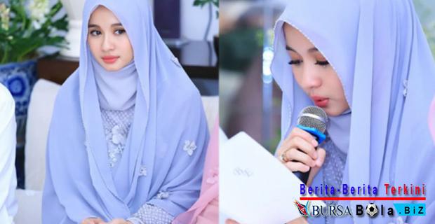 Gelar Pengajian Sebelum Menikah, Laudya Cynthia Bella Semakin Anggun Dalam Balutan Busana Hijab