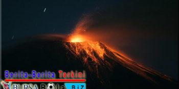 Gunung Shinmoedake meletus Tingkat Bahaya Naik